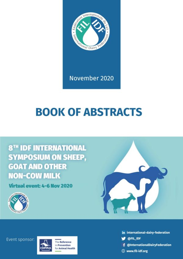 BOOK OF ABSTRACTS of the 8TH IDF INTERNATIONAL SYMPOSIUM ON SHEEP, GOAT AND OTHER NON-COW MILK